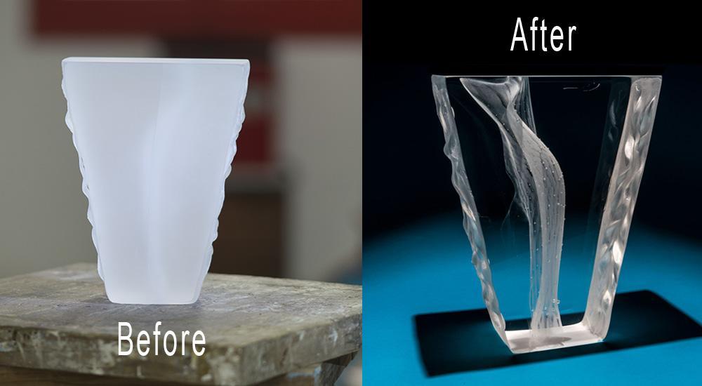 Polishing optical glass