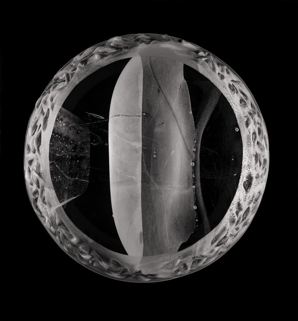 Meridian glass sculpture