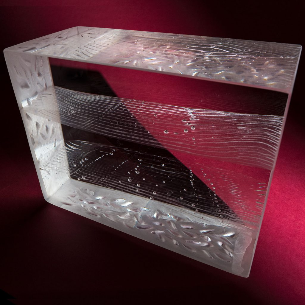 Mantle contemporary glass sculpture