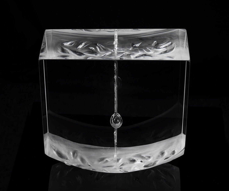 Glass sculpture Pendulum
