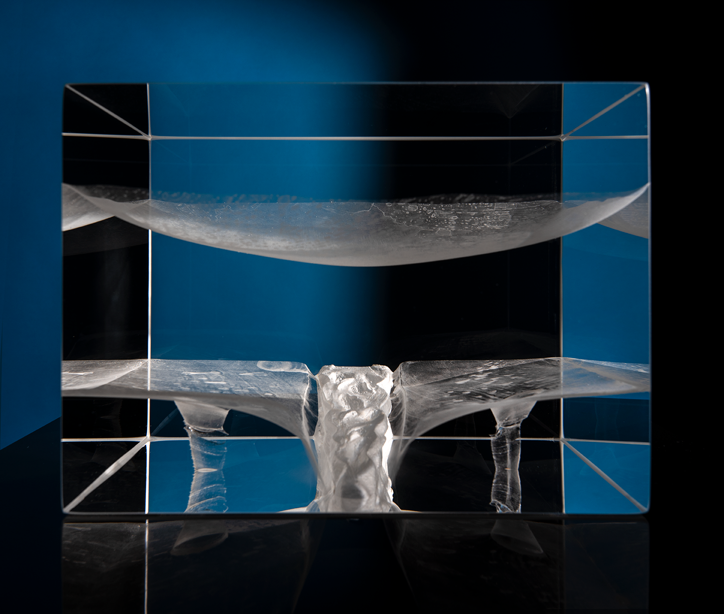 Duality contemporary glass sculpture