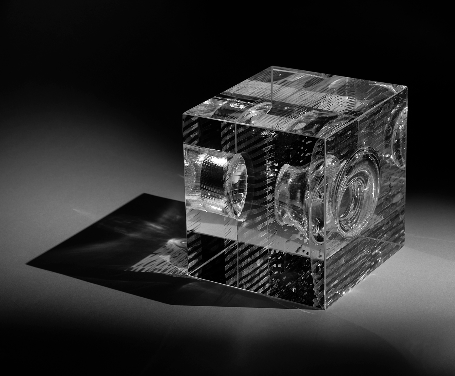 Collision | Optical glass sculpture